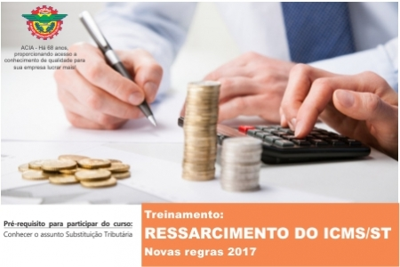 Treinamento: RESSARCIMENTO DO ICMS/ST