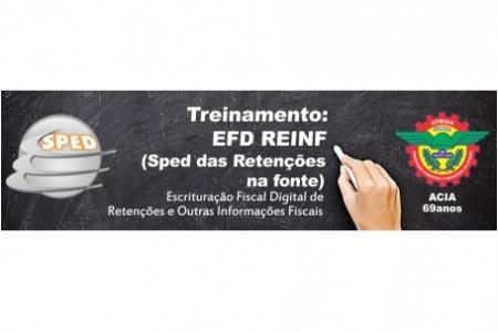 Notícia: Treinamento: EFD REINF (Sped das Retenções na fonte)