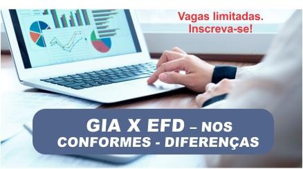 GIA x EFD ICMS - Nos Conformes - Diferenças