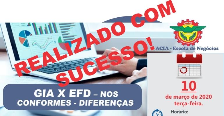 ACIA realizou, com grande sucesso, treinamento de GIA X EFD ICMS.