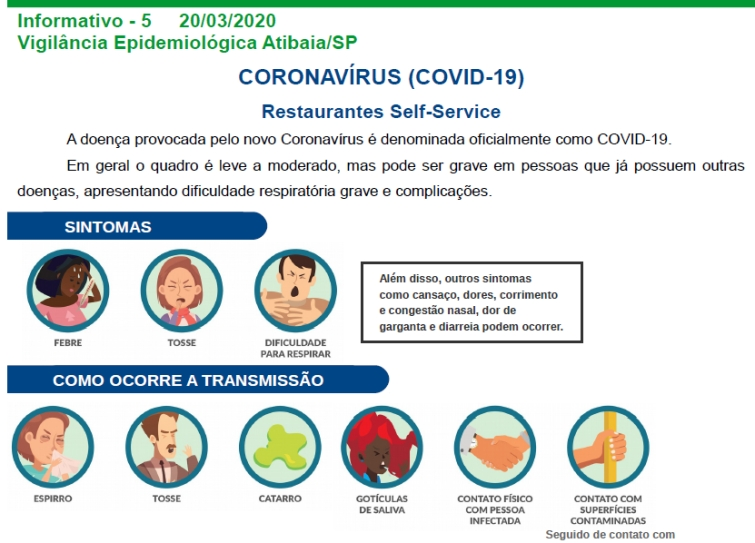 Notícia: Coronavírus (covid-19): Recomendações para Restaurantes Self-Service
