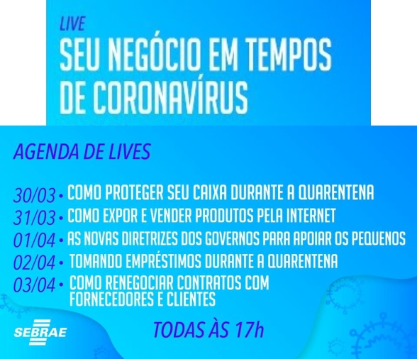 Notícia: Sebrae: Seu negócio em tempos de coronavirus.