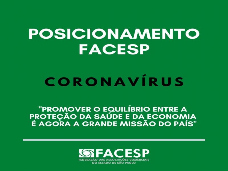 Notícia: POSICIONAMENTO FACESP: CORONAVÍRUS
