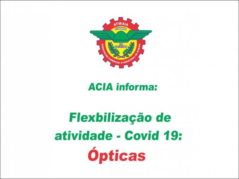 Flexibilização Covid-19: Ópticas.