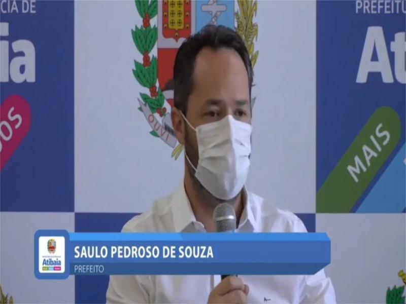Live pelo Facebook do Exmo. Sr. Saulo Pedroso de Souza, Prefeito da Estância de Atibaia.