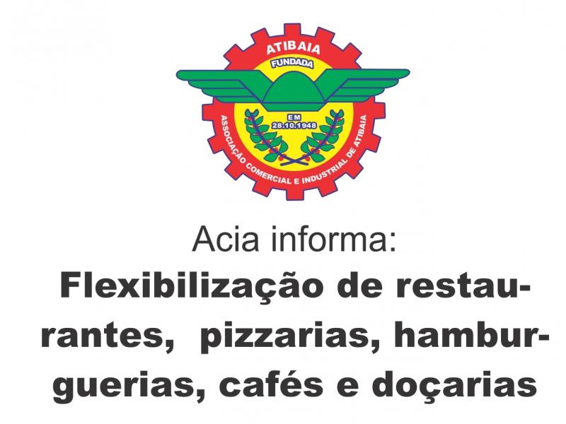 Restaurantes, pizzarias, hamburguerias, cafés e doçarias serão flexibilizadas a partir do dia 22 de junho.