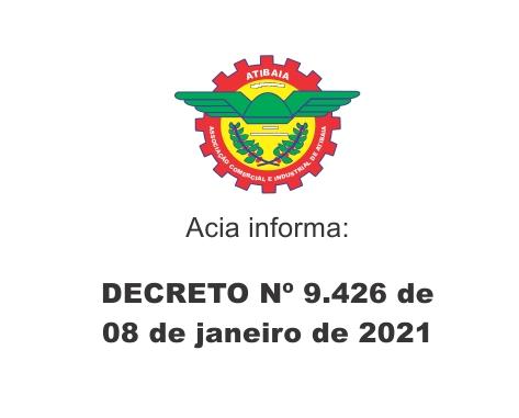 DECRETO Nº 9426 de janeiro de 2021