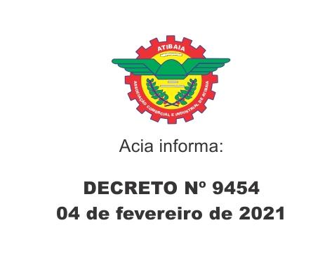 Decreto 9.454 de 04 de fevereiro de 2021