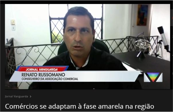 Matéria Jornal Vanguarda: Comércios se adaptam à fase amarela na região bragantina