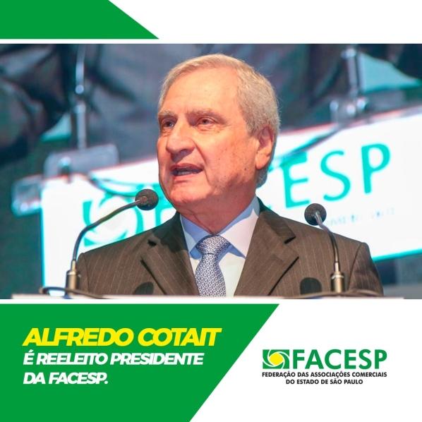 Notícia: Alfredo Cotait é reeleito presidente da Facesp por aclamação