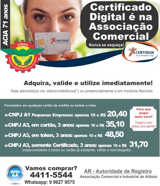 Notícia: Adquira seu Certificado digital na Associação Comercial