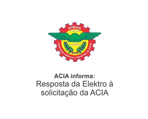 Notícia: Solicitação da ACIA à ELEKTRO