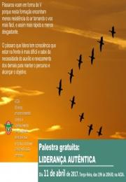 Palestra gratuita: LIDERANÇA AUTÊNTICA
